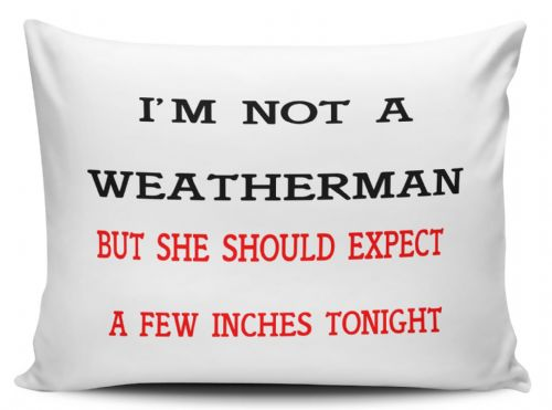 I'm Not A Weatherman But She Should Expect A Few Inches Tonight Pillow Case